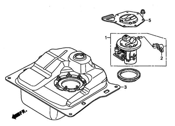 画像1: ZOOMER(RUCKUS) Injection Fuel Tank Peripheral Parts / ZOOMER FI用ガソリンタンク周辺部品 (1)