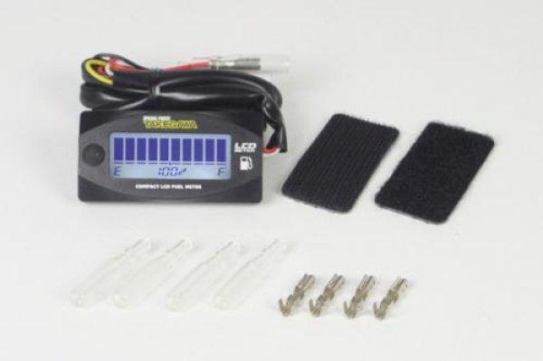 画像1: TAKEGAWA Compact LCD fuel meter (external power supply drive type) / SP武川 コンパクトLCDフュ-エルメーター(外部電源駆動式) (1)